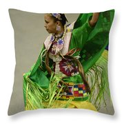 Pow Wow Shawl Dancer 3 Throw Pillow