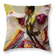 Pow Wow Shawl Dancer 4 Throw Pillow