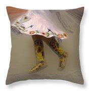 Pow Wow Shawl Dancer 8 Throw Pillow