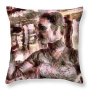 She And Glass Throw Pillow