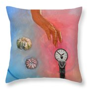 She Came From Above Throw Pillow