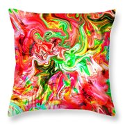 She Embraces Nature Throw Pillow