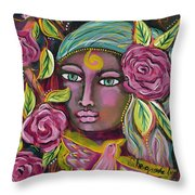 She Grows Beauty Throw Pillow