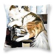 She Has Got The Look - Cat Portrait Throw Pillow