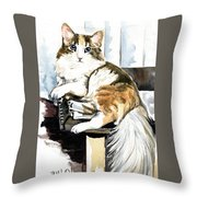 She Has Got The Look - Cat Portrait Throw Pillow