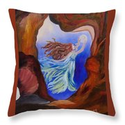 She Hung The Moon Throw Pillow