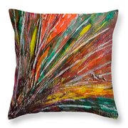 She Is Angry Throw Pillow