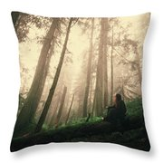 She Is At Peace Throw Pillow
