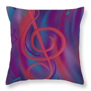 She Loves Me N G Clef Throw Pillow