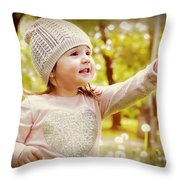 She Picked A Flower For You Throw Pillow