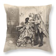 She Played All His Favourites Three Times Over Without Any Solicitation Throw Pillow