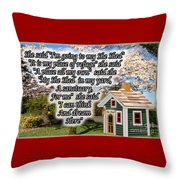 She Shed Throw Pillow by Leona Atkinson