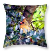 She Waits Throw Pillow