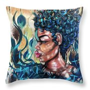 She Was A Cool Flame Throw Pillow