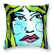 She Was A Handsome Woman Throw Pillow