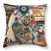 She Was Headed For Greatness Throw Pillow