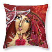 She Who Comforts Us Throw Pillow