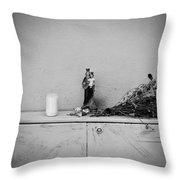 She Who Protects And Helps Throw Pillow