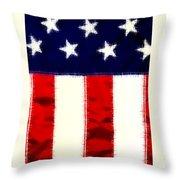 Shear Flag Throw Pillow