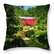 Sheards Mill Bridge - Nockamixon Pa Throw Pillow