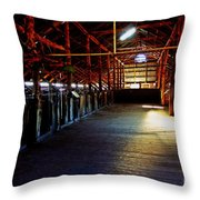 Shearing Shed From A Bygone Era Throw Pillow