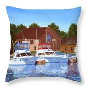 Sheboygan River Marina Throw Pillow