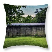 Shed At Camp Pecometh Throw Pillow