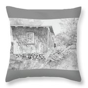 Shed In My Mothers Back Yard Throw Pillow