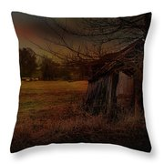 Sheep And Shed Throw Pillow