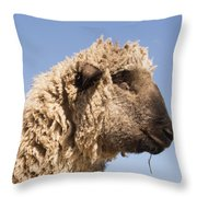 Sheep In Profile Throw Pillow