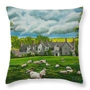 Sheep In Repose Throw Pillow