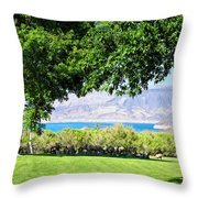 Sheep In The Shade Throw Pillow
