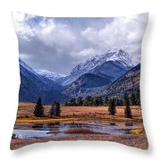 Sheep Lakes Autumn Throw Pillow