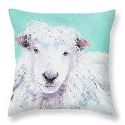 Sheep Painting - Jeremiah Throw Pillow