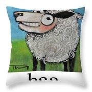 Sheep Poster Throw Pillow