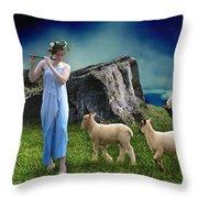 Sheep Whisperer Throw Pillow