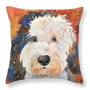 Sheepadoodle Throw Pillow