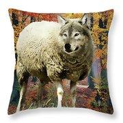 Sheep's Clothing Throw Pillow