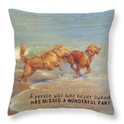 Sheer Joy Quote Throw Pillow
