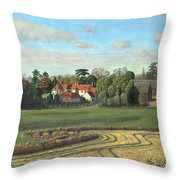 Sheering Hall Near Harlow Essex Throw Pillow