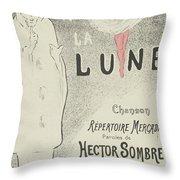 Sheet Music Aubade A La Lune Throw Pillow