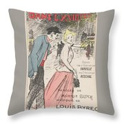 Sheet Music Dans Lxviiieme By Achille Bloch And Louis Byrec, Performed By Farville And Reschal Theo Throw Pillow