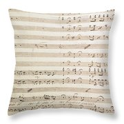 Sheet Music For The Barber Of Seville By Rossini  Throw Pillow