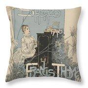 Sheet Music Scherzo Pour Piano Throw Pillow