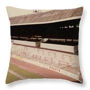 Sheffield United - Bramall Lane - John Street Stand 2 - 1970s Throw Pillow