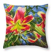 Sheherazade Lilies 1 Throw Pillow