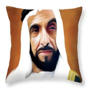 Sheikh Zayed Throw Pillow
