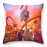 Sheikra Ride Poster 3 Throw Pillow