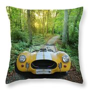 Shelby Ac Cobra In The Woods Throw Pillow