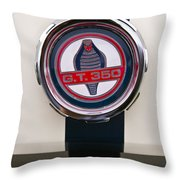 Shelby Cobra Gt 350 Ford Mustang Throw Pillow